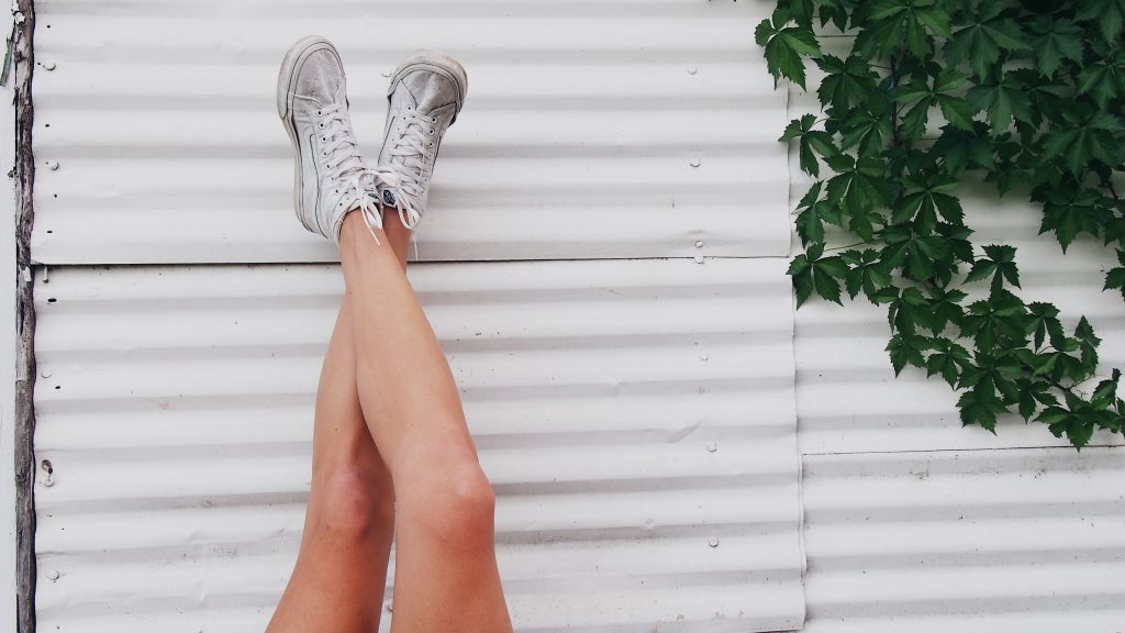 Worn-Out White Vans
