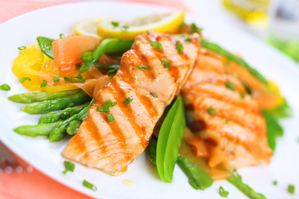 bigstock-grilled-salmon-with-spring-veg-29994845